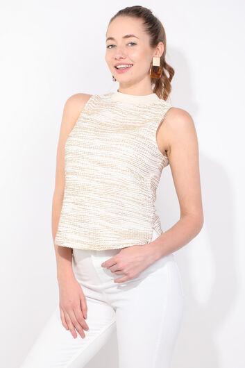 MARKAPIA WOMAN - Женская блузка без рукавов в рубчик (1)
