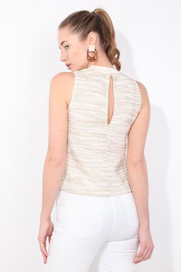 Женская блузка без рукавов в рубчик - Thumbnail