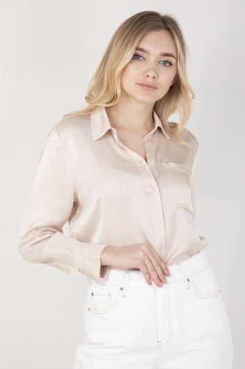 Женская атласная рубашка Stone - Thumbnail