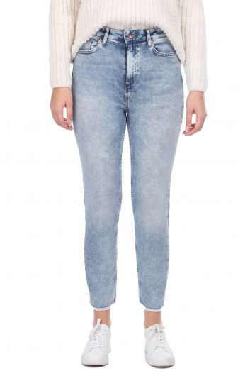 Женские джинсы скинни с вырезом - Thumbnail