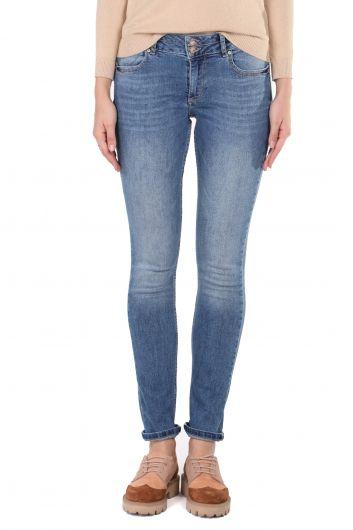 Женские джинсовые брюки Slim Fit - Thumbnail