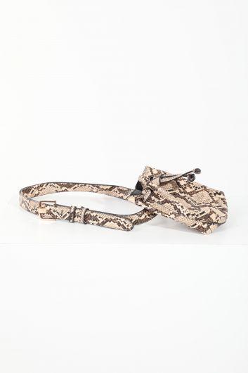 MARKAPIA WOMAN - Женская присборенная поясная сумка со змеиным узором (1)