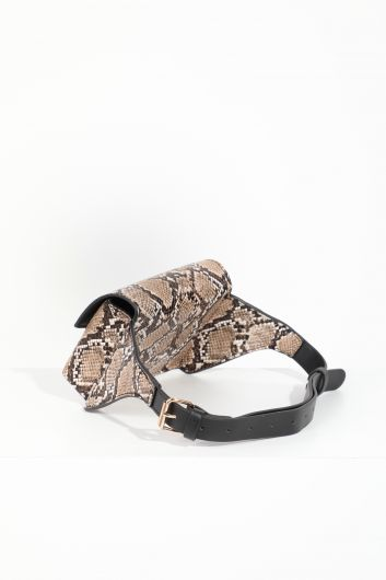 MARKAPIA WOMAN - Women's Snake Patterned Flap Waist Bag (1)