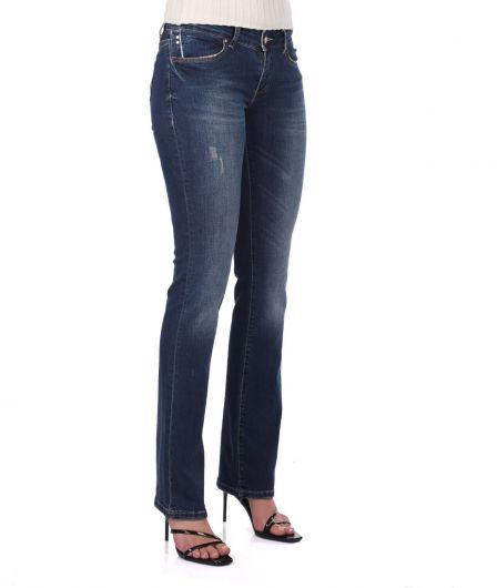 Banny Jeans - بنطلون جينز بقصة مستقيمة للنساء (1)