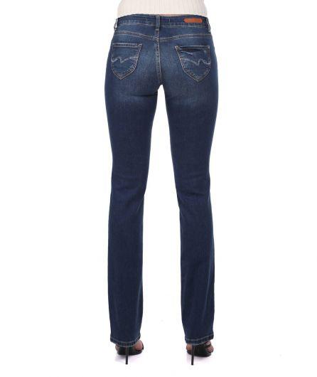 Женские джинсовые брюки прямого кроя - Thumbnail