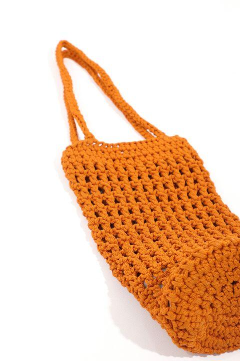 Women's Macrame Cylinder Hand Bag