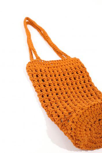 Женская сумка для цилиндров из макраме - Thumbnail
