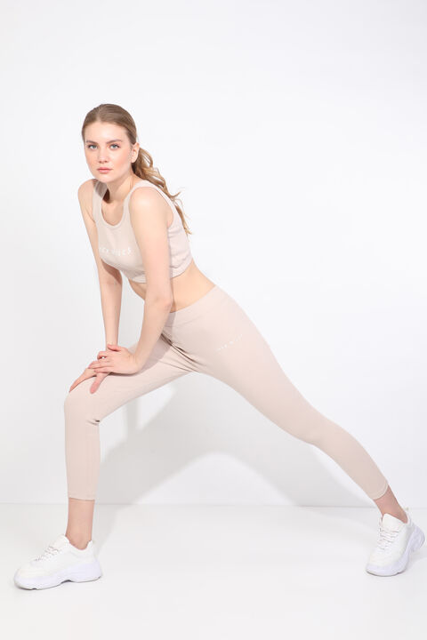 Women's Stone Ribbed Sports Tights Set