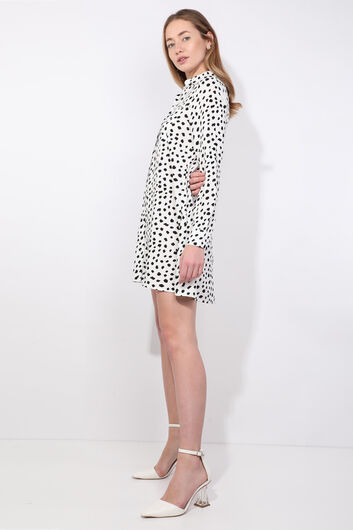 MARKAPIA WOMAN - Женская белая длинная рубашка с далматинским узором (1)
