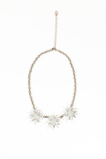 Women's White Star Chain Pendant Necklace - Thumbnail