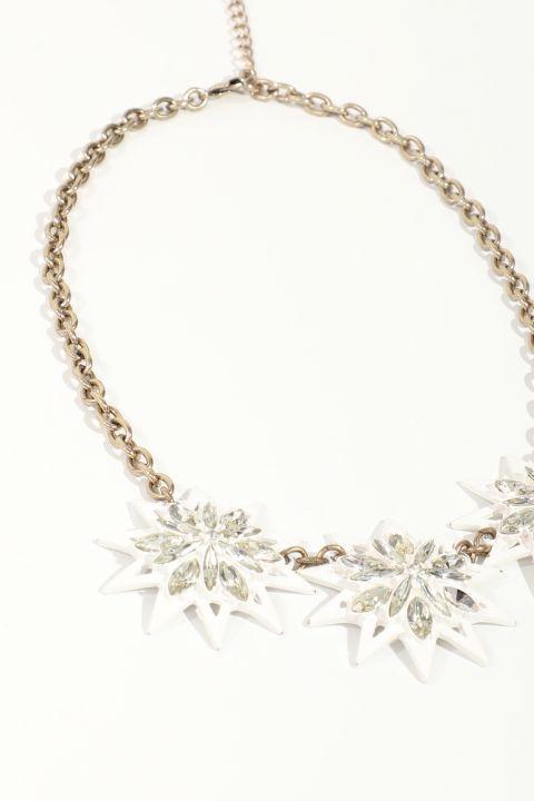 Women's White Star Chain Pendant Necklace