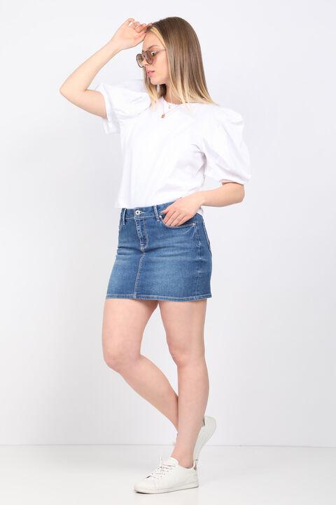 Женская белая футболка с рукавами арбуз