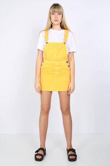 تنورة أفرول دنيم صفراء نسائية - Thumbnail