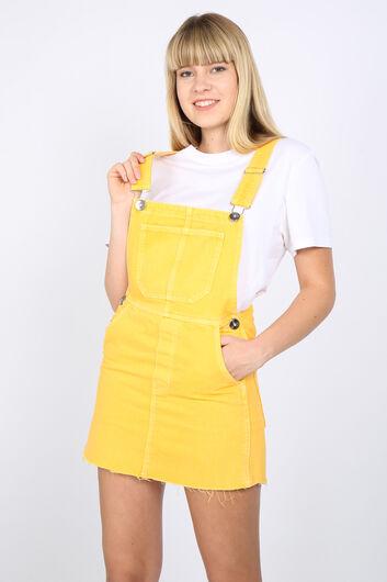 MARKAPIA WOMAN - Женский желтый джинсовый комбинезон с юбкой (1)