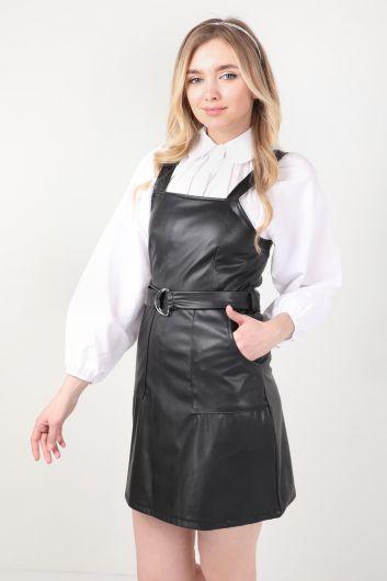 MARKAPIA WOMAN - سالوبيت حزام جلد صناعي أسود نسائي (1)