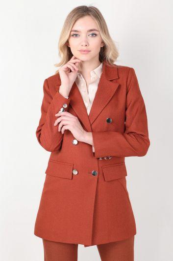 Женский пиджак с корицей - Thumbnail