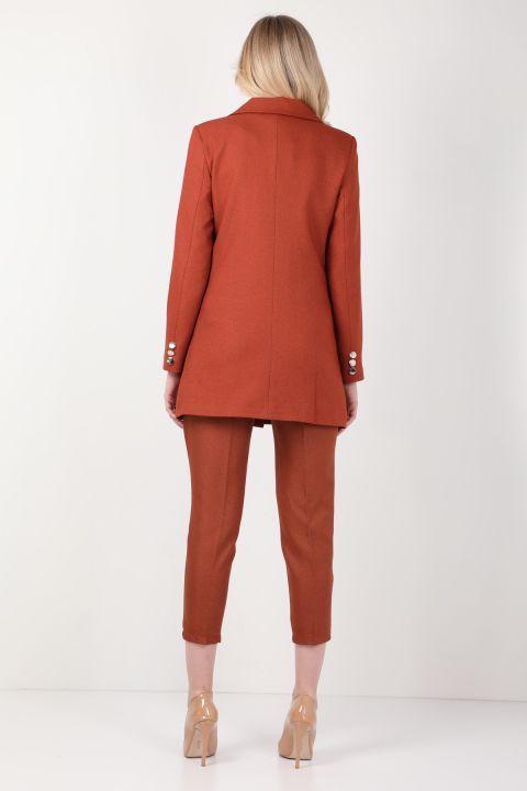 Женский пиджак с корицей