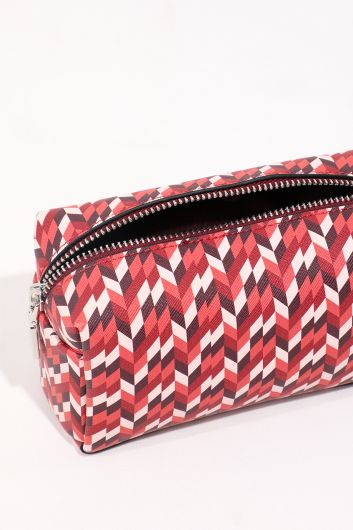 MARKAPIA WOMAN - Women's Patterned Zippered Voluminous Makeup Bag (1)