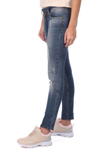 Banny Jeans - Женские рваные джинсовые брюки с детализированной отделкой (1)