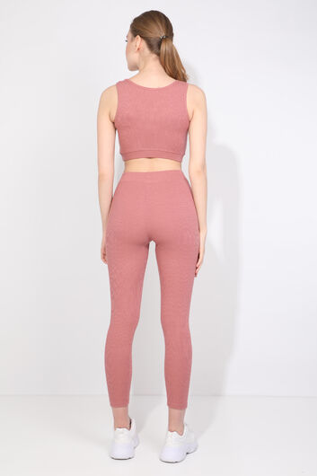 Women's Dried Rose Corduroy Tights Set - Thumbnail