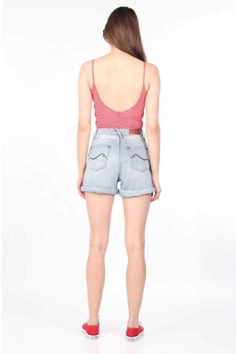 Women's Striped Thin Strap Body Red