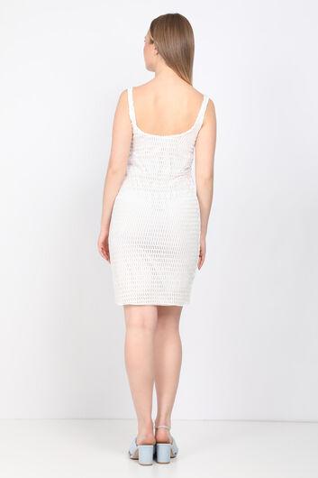 MARKAPIA WOMAN - Белое женское платье из гипюра с деталями (1)