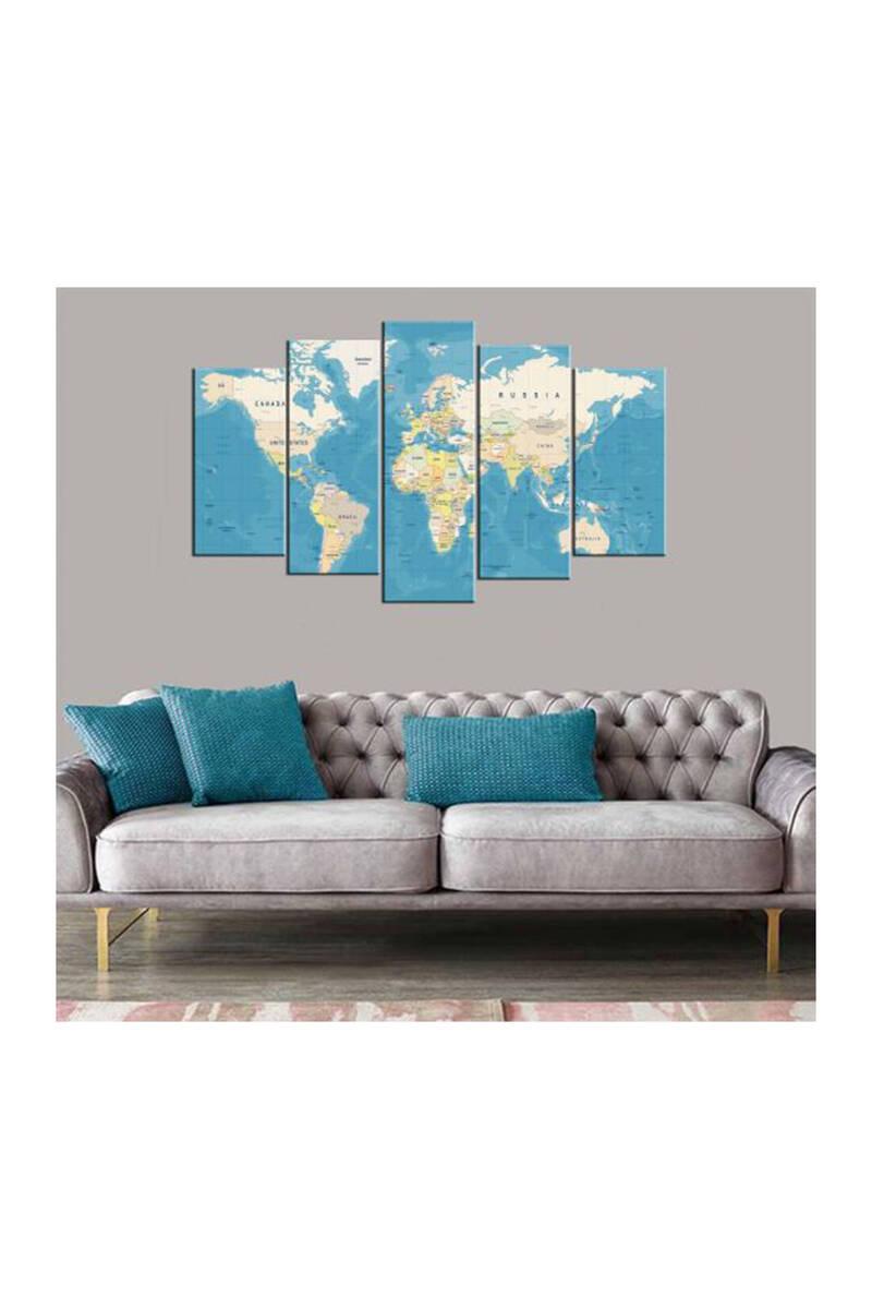 Карта мира 5 шт Mdf Живопись
