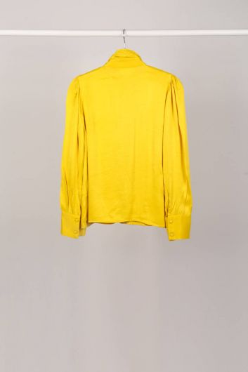 MARKAPIA WOMAN - Yellow Collar Tied Women's Shirt (1)