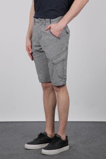 Banny Jeans - Детальные мужские капри с боковыми карманами (1)