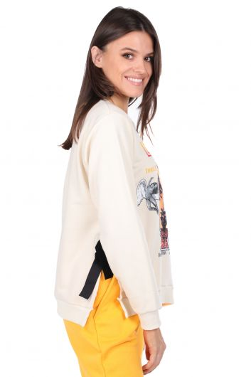 MARKAPIA WOMAN - Tie-Down Printed Sweatshirt (1)
