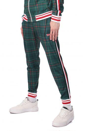LONSDALE - Мужские спортивные брюки в эластичную клетку в полоску по бокам (1)