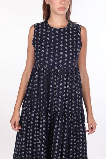 فستان منقوش من ماركابيا بدون أكمام - Thumbnail
