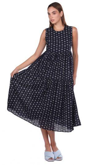 Платье Markapia с узором без рукавов - Thumbnail