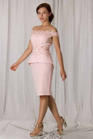 shecca - Low Back Powder Suit Evening Dress (1)