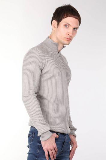 MARKAPIA MAN - Zipper Corded Men's Knitwear Sweater (1)