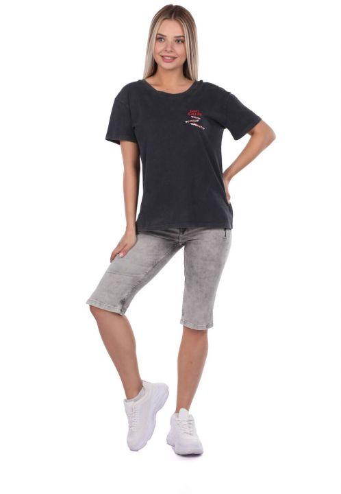Banny Jeans Zipper Pocket Women's Capri