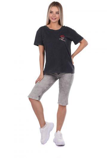 Banny Jeans - Женские капри Banny Jeans с карманами на молнии (1)