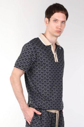 MARKAPIA MAN - Мужская футболка с воротником-поло на молнии (1)