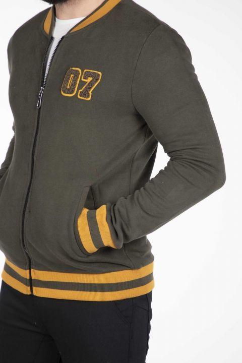 Markapia Men's Zipper Cardigan